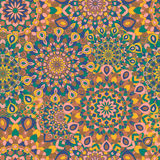 Gypsy seamless pattern. Texture with round colored Royalty Free Stock Image