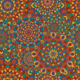 Gypsy seamless pattern. Texture with round colored Stock Images