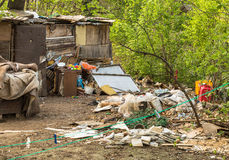Gypsy settlement in Belgrade Royalty Free Stock Photo