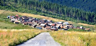 Gypsy settlement Royalty Free Stock Photography