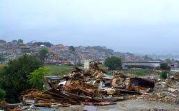 Gypsy slum Maksuda debris ,Varna Stock Photos