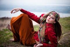 Gypsy style fashion Royalty Free Stock Photography