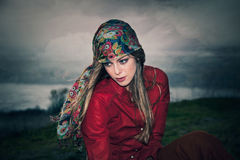 Gypsy style fashion Royalty Free Stock Images