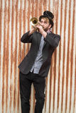 Gypsy Trumpet Musician Stock Photo