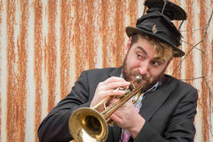 Gypsy Trumpet Musician Royalty Free Stock Photo