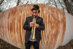 Gypsy Trumpet Musician Stock Images