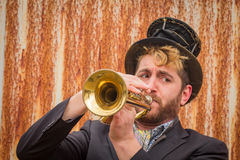 Gypsy Trumpet Musician Royalty Free Stock Images