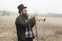 Gypsy Trumpet Royalty Free Stock Images