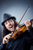 Gypsy violin player Royalty Free Stock Photography