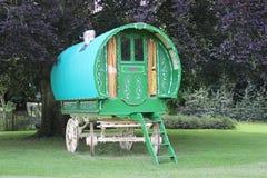 A Gypsy Wagon. An Old Green Gypsy Wagon royalty free stock photo