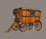 Gypsy Wagon stock illustration