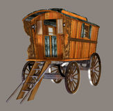 Gypsy Wagon. Digital gypsy wagon for your artistic creations and/or projects Stock Image