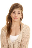 Gypsy woma close upper body Stock Images