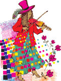 Gypsy woman. Design of gypsy woman with violin Royalty Free Stock Image