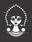 Gypsy Woman Vector Design Silhouette Royalty Free Stock Image