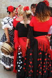 Gypsy women in french Saintes Maries de la Mer Stock Photo
