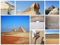 Ägypten-Collage Stockbild