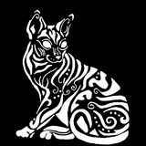 Ägyptische Katze Hiqh-Qualität für die Färbung Stockbilder