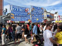 Gyro grecki Sprzedawca Obrazy Royalty Free