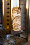 Gyro meat on rotating spit Royalty Free Stock Photo