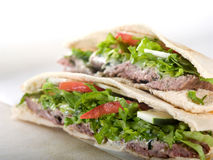 Gyro pita bread sandwich Royalty Free Stock Photography