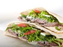 Gyro pita bread sandwich Royalty Free Stock Photography