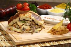 Gyro or shawarma sandwich royalty free stock photo