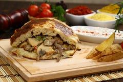 Gyro or shawarma sandwich stock photos