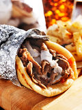 Gyro with tzatziki sauce Stock Photography