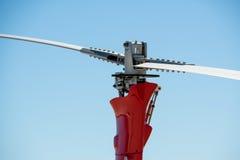 Gyrocopter autogyro, gyroplane, rotaplane, κινηματογράφηση σε πρώτο πλάνο προωστήρων ελικοπτέρων Στοκ εικόνα με δικαίωμα ελεύθερης χρήσης