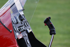 Gyrocopter cockpit Royalty Free Stock Photo