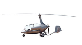 Gyrocopter with open Canopy Stock Photos