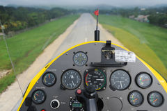 Gyroplane instrument panel Stock Photography