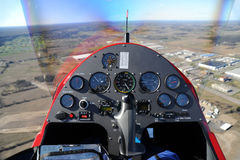 Gyroplane instrument panel Royalty Free Stock Image