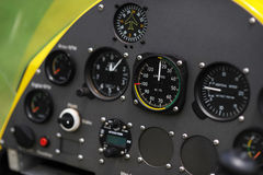 GyroplaneInstrumentenbrett Stockfoto
