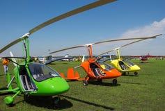 Gyroplanes στο χώρο στάθμευσης στοκ φωτογραφία με δικαίωμα ελεύθερης χρήσης