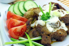 Gyros Greek specialty. Made from meat Royalty Free Stock Photography