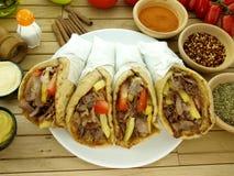 Gyros or kebab stock images
