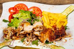 Free Gyros On The Plate Royalty Free Stock Photography - 125541677
