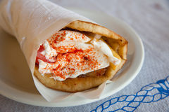 Gyros Pita Royalty Free Stock Photography