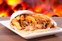 Gyros portion Royalty Free Stock Photo