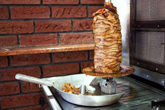Gyros. Roast mutton meal grill, food Royalty Free Stock Photo