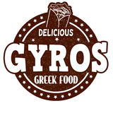 Gyros stamp Stock Photography
