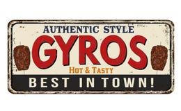 Gyros vintage rusty metal sign Royalty Free Stock Photos
