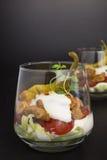 Gyros z pomidorem i sałatką obrazy stock