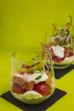 Gyros z pomidorem i sałatką zdjęcie stock