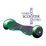 Gyroscooter. Illustration cartoon  green Royalty Free Stock Photography