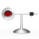Gyroscope. A gyroscope (from Greek γῦρος gûros, circle and σκοπέω skopéō, to look) is a device for measuring or maintaining orientation, based on Royalty Free Stock Image