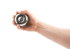 Gyroscope in hand Stock Images