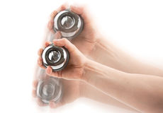 Gyroscope in hand Royalty Free Stock Photos